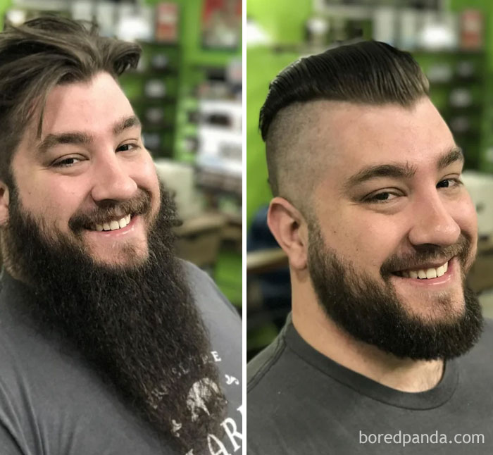 Yesterday I Decided To Clean Up My Two Year Beard