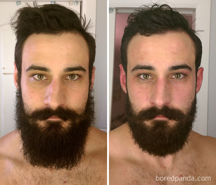 Before And After - Beard Trim
