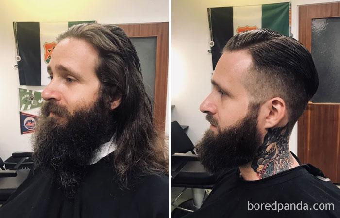 I Cut My Hair And Beard