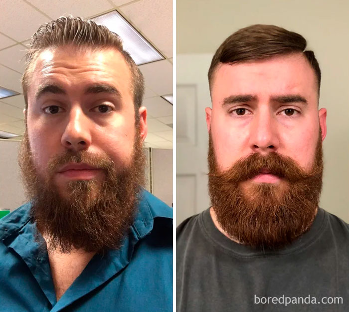 1st Beard Attempt Before I Knew About Beard Care. 2nd Attempt After I Learned How To Care For My Beard