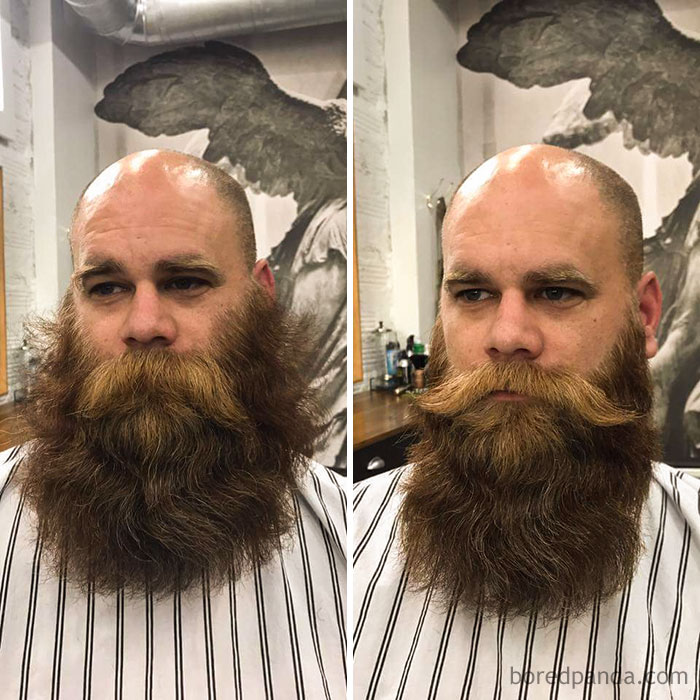 My Before & After A Trim. Sorely Needed, Immensly Pleased!