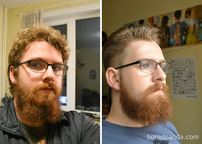 It Was About Time For A Trim And A Haircut. Loving The Results (Before + After Pic)