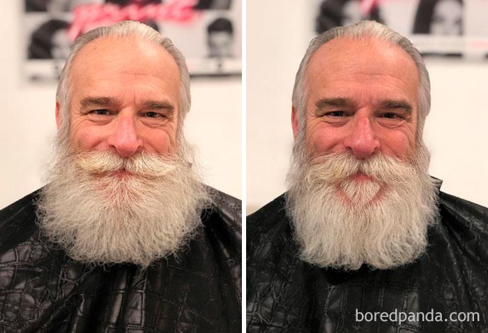 Just A Little Beard Trim On My Dad