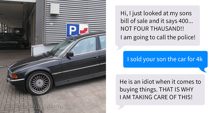 21 Year-Old Son Buys Car, Mom Contacts Seller To Return Money