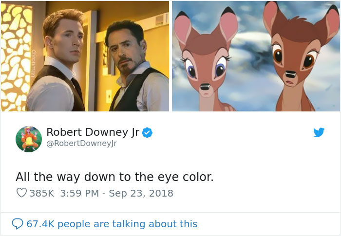 People Compare Bros Robert Downey Jr. And Chris Evans To ...