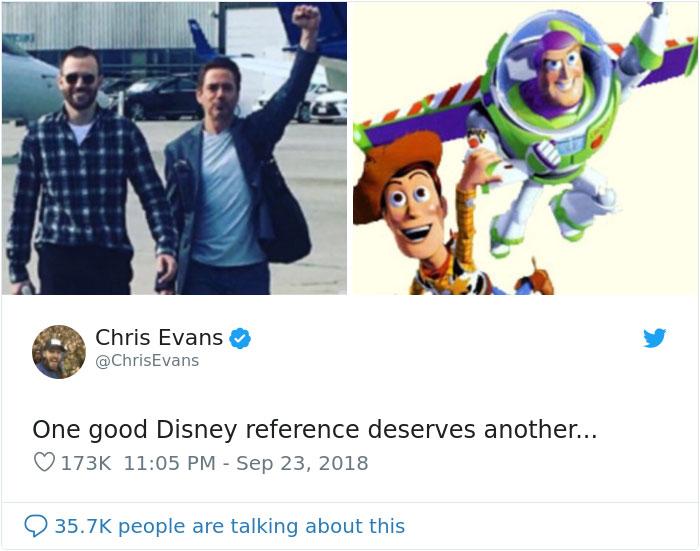 Chris Evans Robert Downey Jr Disney