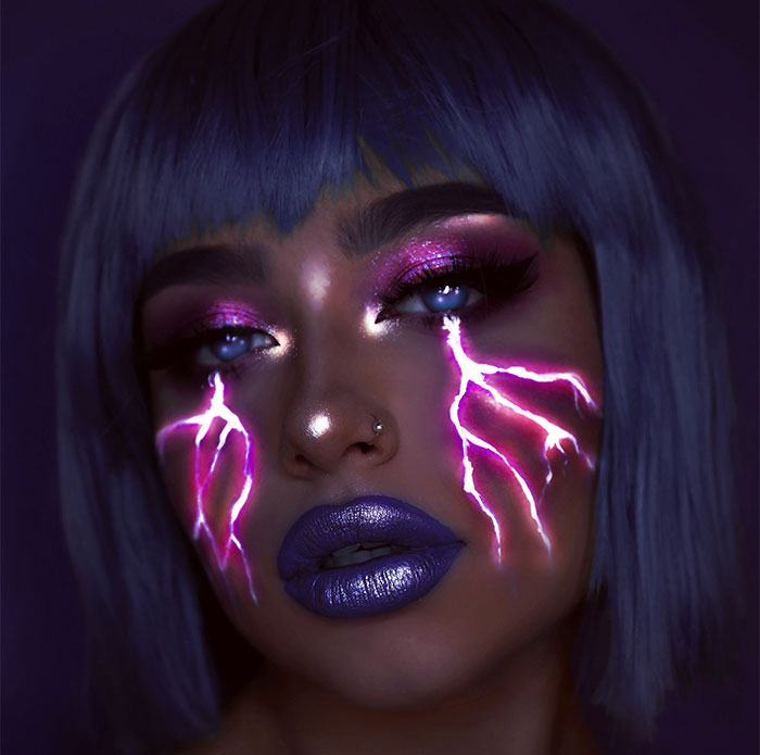 I Use Makeup, UV Paint And Light To Create Glow-In-The-Dark Looks (20 Pics)