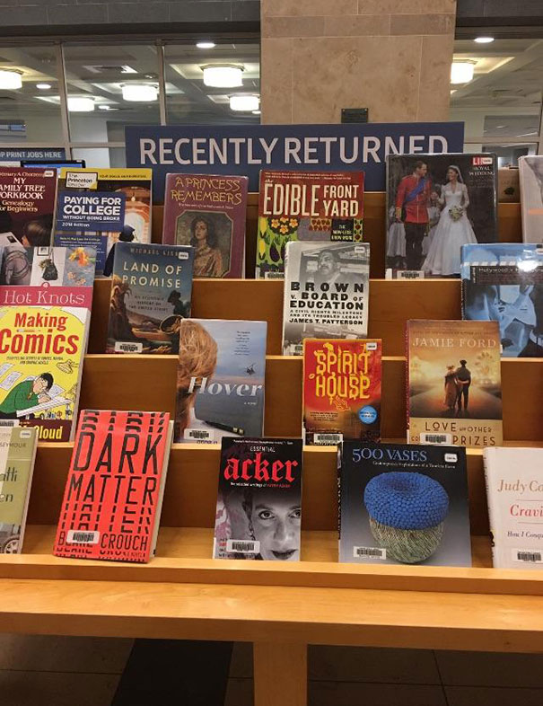 "Library Has ""Recently Returned"" Section So You Can See What Other People Have Been Reading"