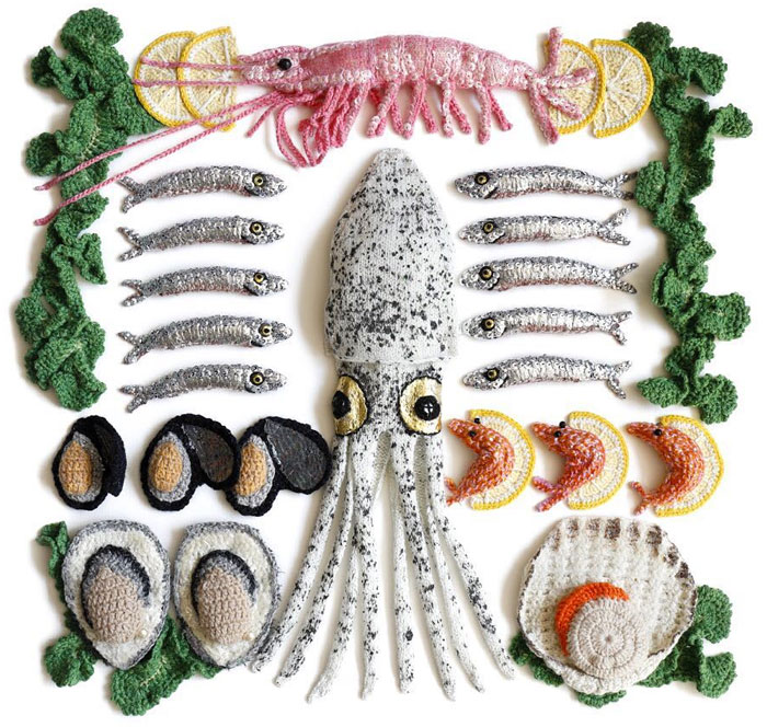 This Artist Crochets Sea Food So Well You Can Almost Taste It