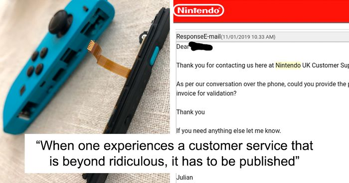 Man Realizes His Nintendo Switch Is Broken Experiences The Worst Customer Service Ever Bored Panda