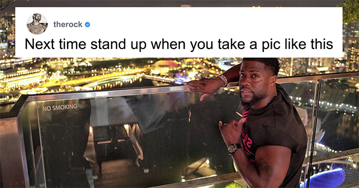 The Rock And Kevin Hart Trolling Each Other Is One Of The Funniest Bromances Ever