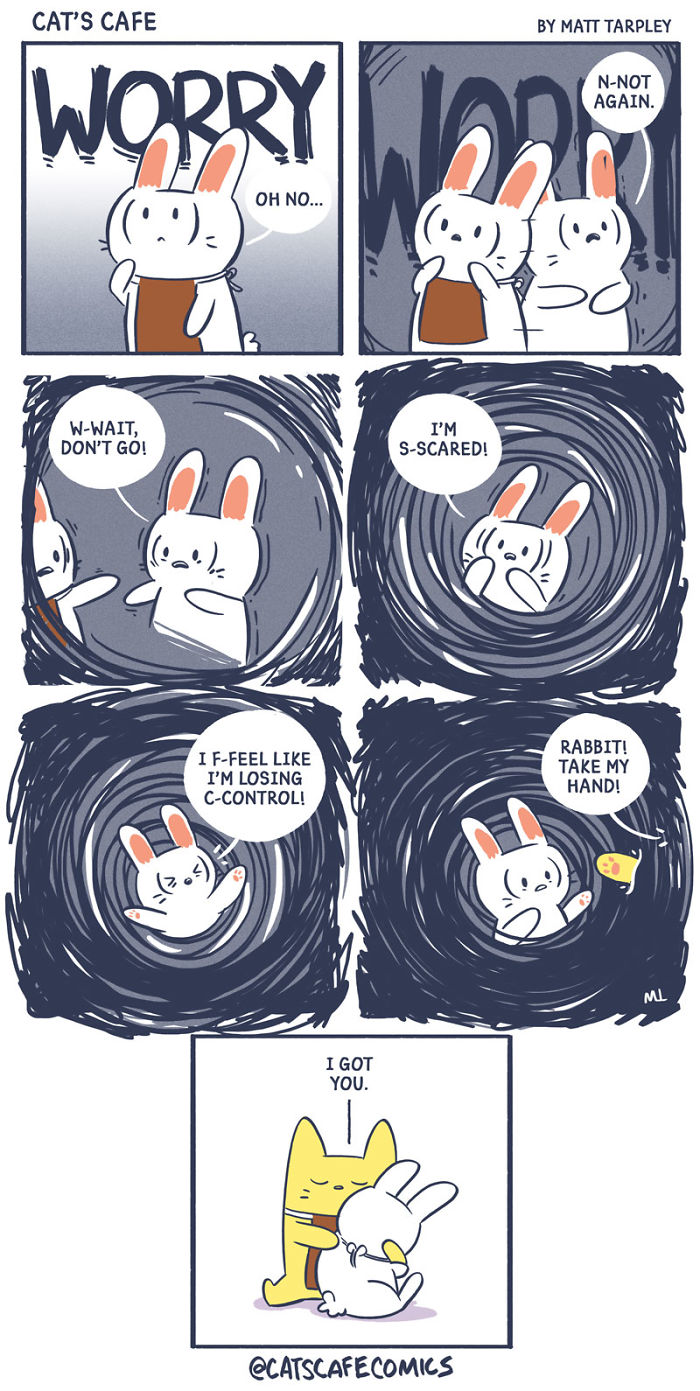 What It's Like To Have A Panic Attack Illustrated As A Wholesome Comic