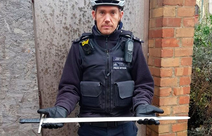 UK Police Post About A Sword Taken Off The Streets, Internet Can't Stop Laughing