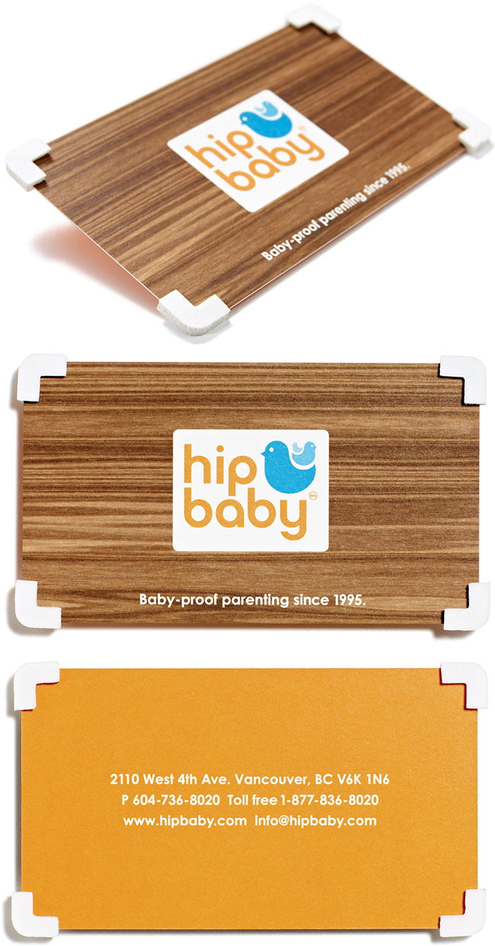 Business Cards For A Baby Store? Seems Kind Of Dangerous With All Those Corners. Well, These Are Baby-Proofed Business Cards
