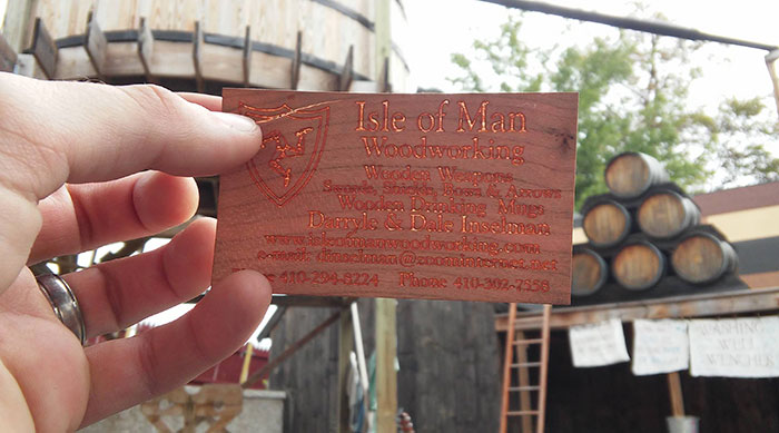 This Business Card Is Made Of Wood