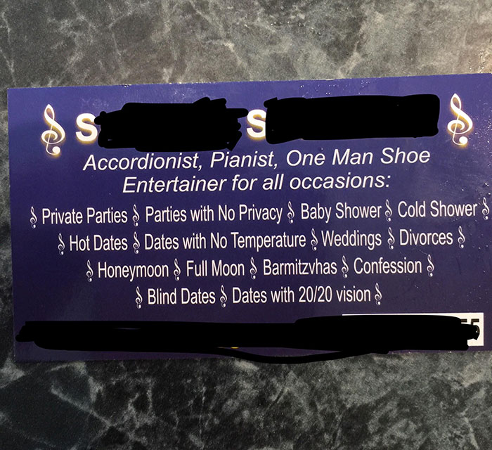 I Got This Somewhat Funny Business Card From A Customer Today