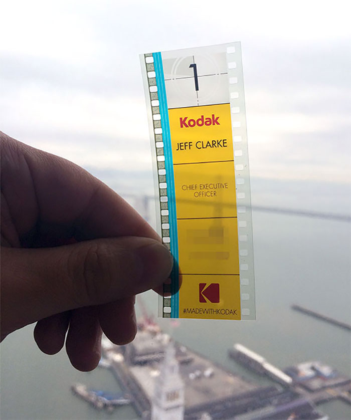 Kodak's CEO Uses 35mm Film As His Business Card