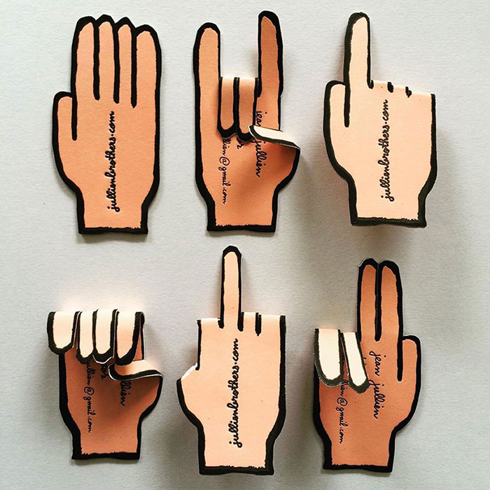 Hand Business Cards