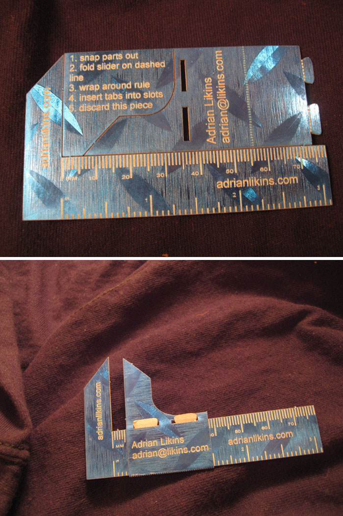 This Business Card Transforms Into A Caliper