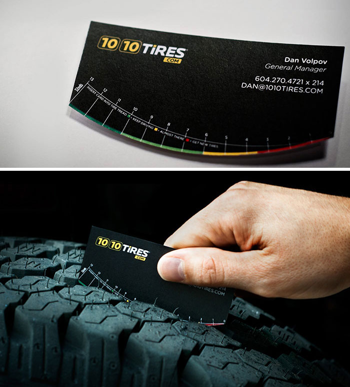 This Business Card Doubles As A Tread Depth Gauge