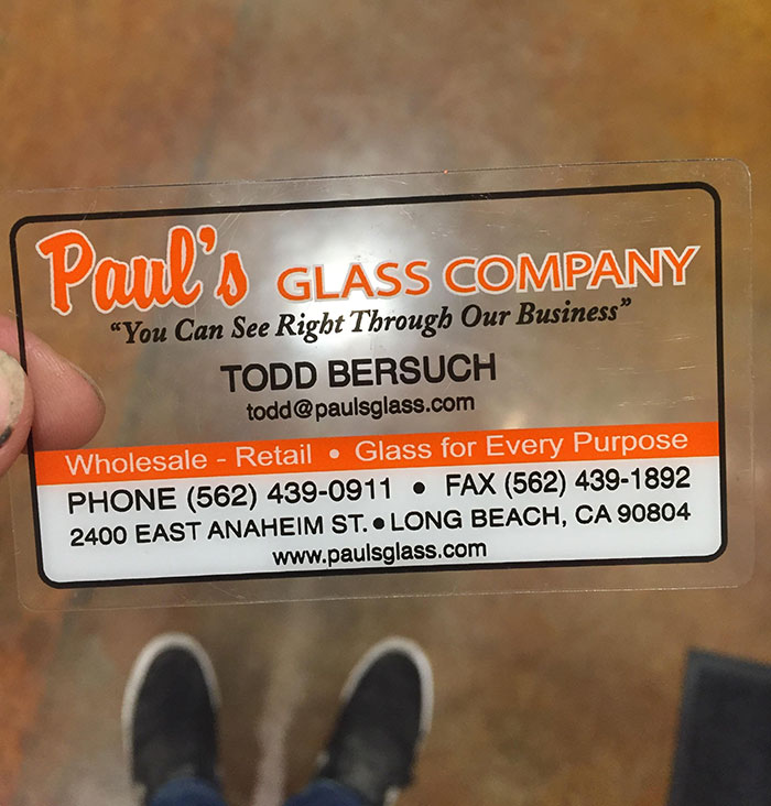 This Glass Company Uses Transparent Business Cards