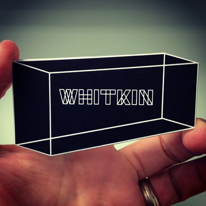 """""""Whitkin"""" Business Cards With An Optical Illusion"""