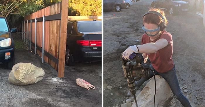 Badass Geologist Gets Revenge On Drunk Neighbour Who Blocks Her Car With Boulder