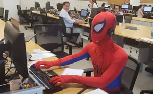 Bank Worker Quits His Job, Shows Up As Spider-Man On His Last Day
