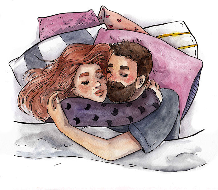 I've Been Illustrating Cute Daily Moments In Watercolour And Ink