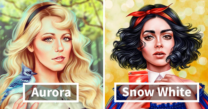 Russian Artist Shows Which Disney Princesses Your Favorite Celebrities Should Be