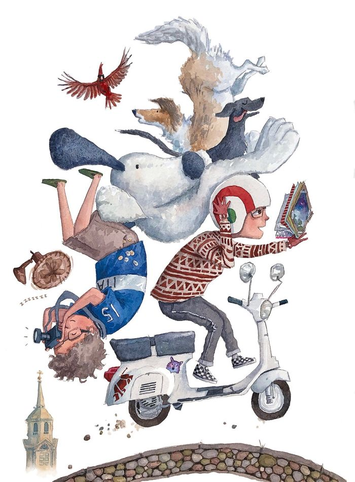 Various Whimsical Family Illustrations