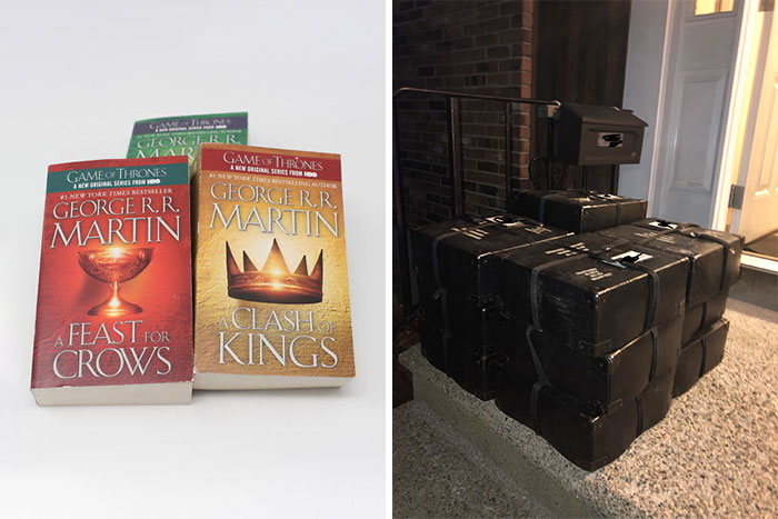 First Three Game Of Thrones Books Vs. Same Books In Braille