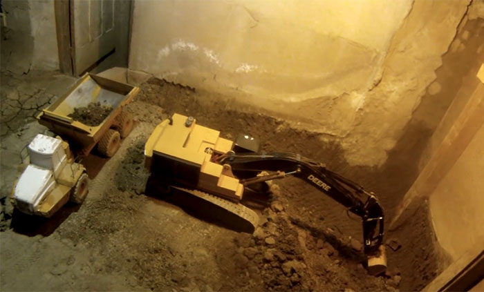 Guy Documents 14 Years Of Excavating His Basement With RC Toys, Has Over 6.3M Views