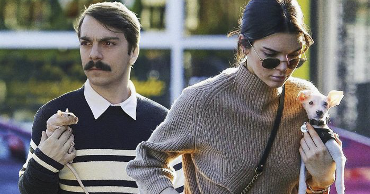 Man Photoshops Himself Into Pictures Of Kendall Jenner, Makes Them 10 Times Better (62 New Pics)