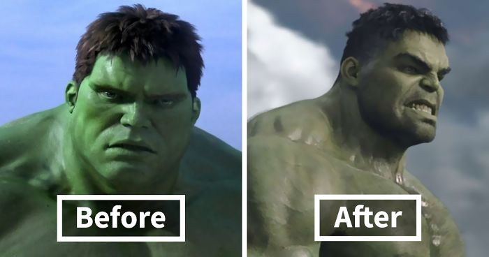 34 Hilarious Photos Showing How Much Marvel Superheroes Changed In 10 Years