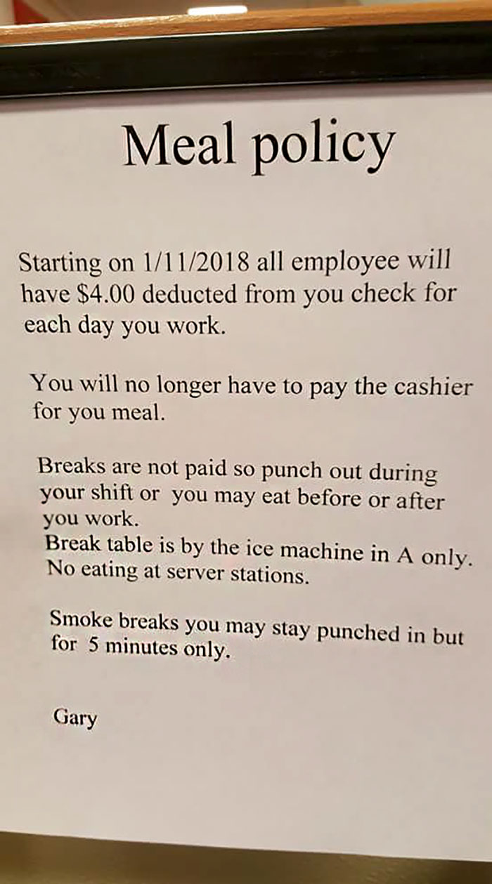 This Restaurant Manager Is Firing People For Refusing To Pay