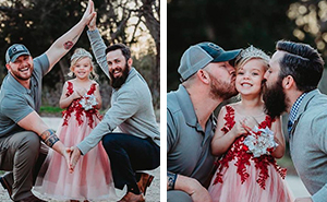 Family Of Daughter And Her Two Dads Have A Cute Photoshoot, But They're Not A Same-Sex Couple