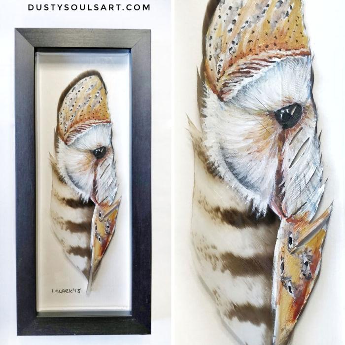 Barn Owl On Buzzard