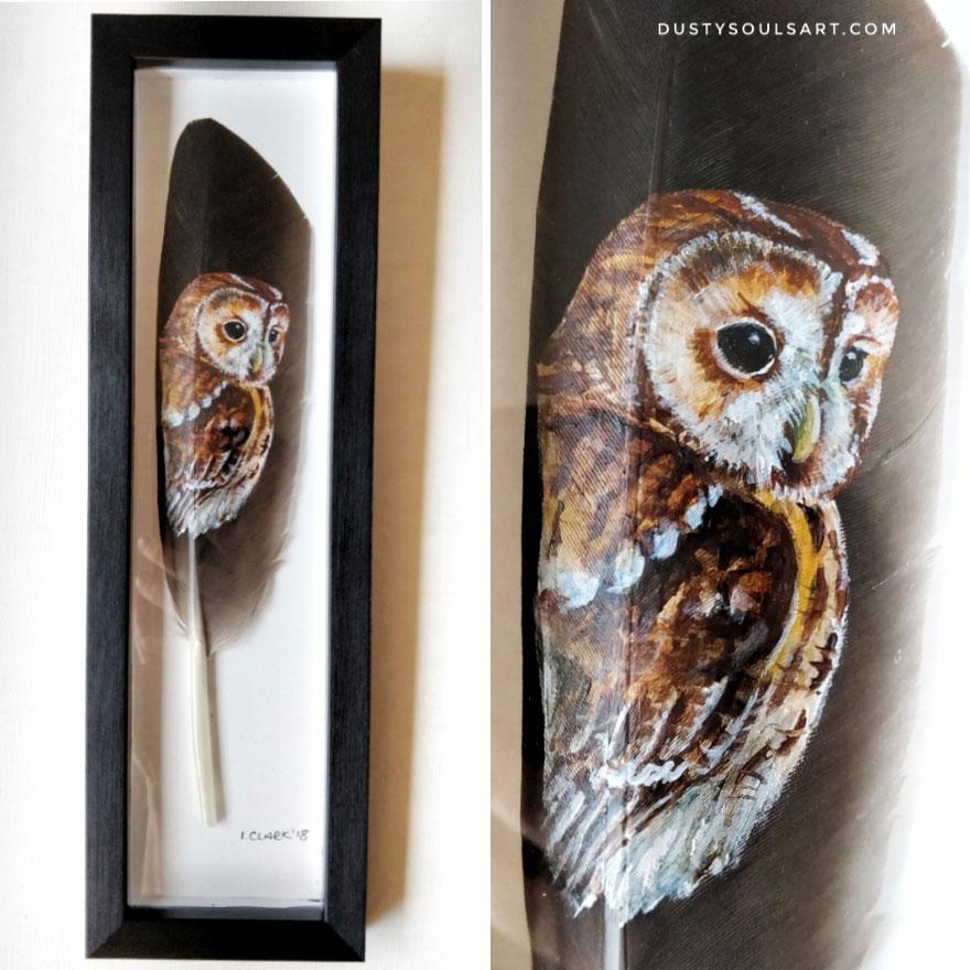 Tawny Owl On Goose