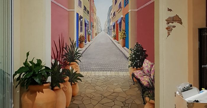 Artist Uses Her Mathematics Skills To Paint Magnificent 3d Murals