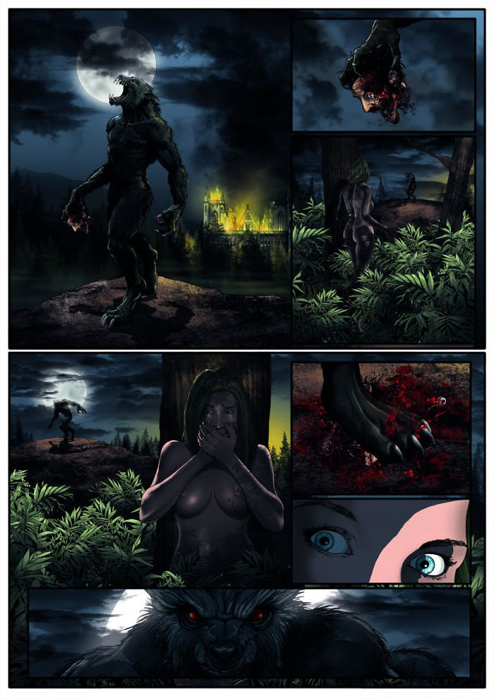 The Mutilator And The Burning Moon: Page 1