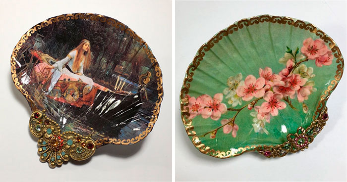 Artist Turns Real Seashells Into Decorative Jewelry Dishes That Look Like Long Lost Treasure