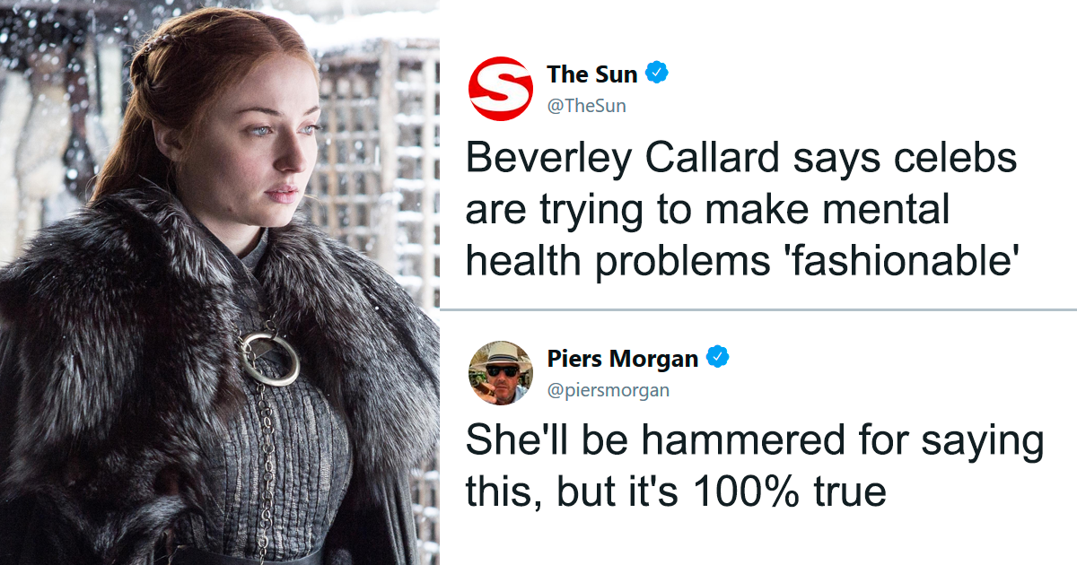 Piers Morgan Blames Celebrities For Making Mental Health Issues 'Fashionable', Sophie Turner Teaches Him A Stark Lesson