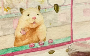 Japanese Artist Imagines Typical Everyday Adventures Of A Hamster In A Light-Hearted Way