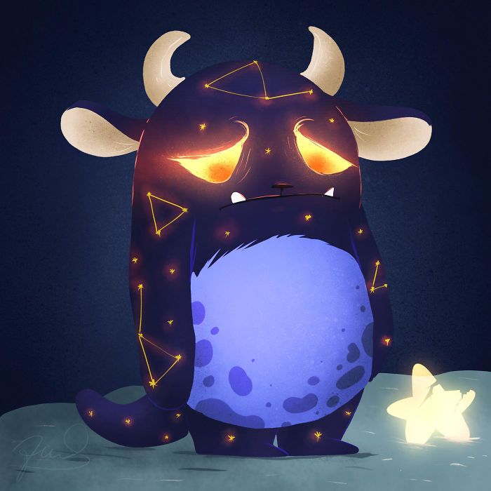 I Create Cute Glowing Forest Monsters And Spirits