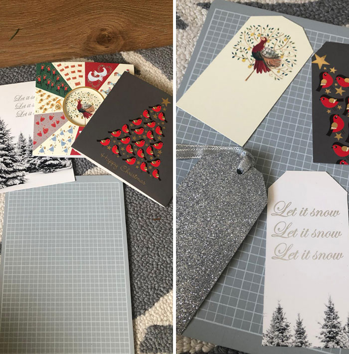 Turning Christmas Cards Into Tags For Next Year