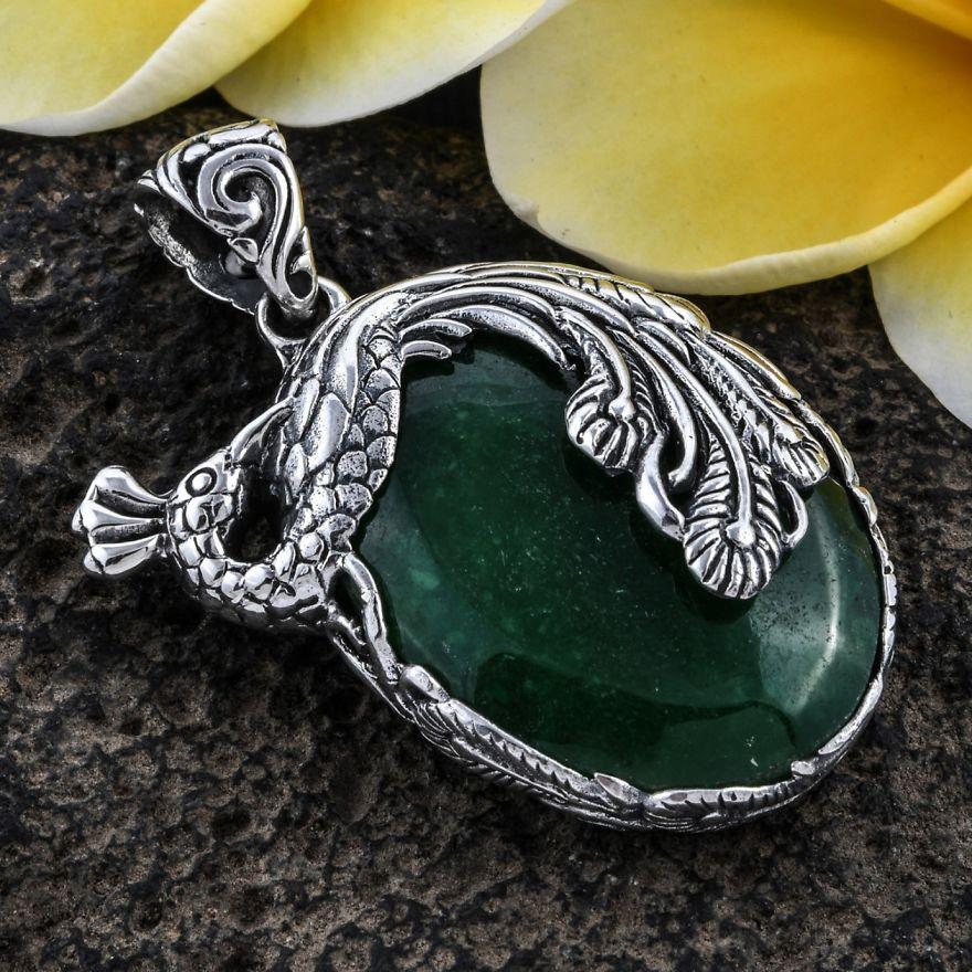 Artisan Peacock Pendant