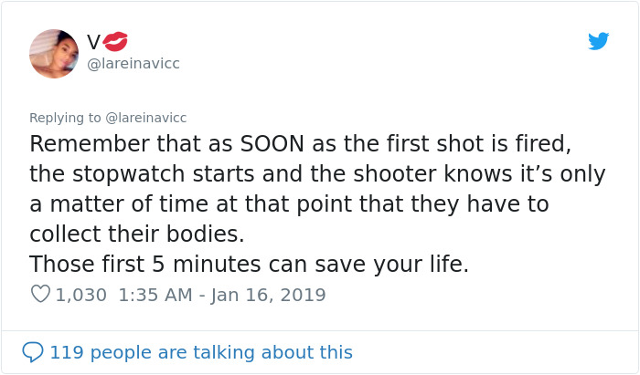 """""""Don't Get Under The Table:"""" Teacher Shares Tips On Staying Alive If An Active Shooter Is Nearby"""