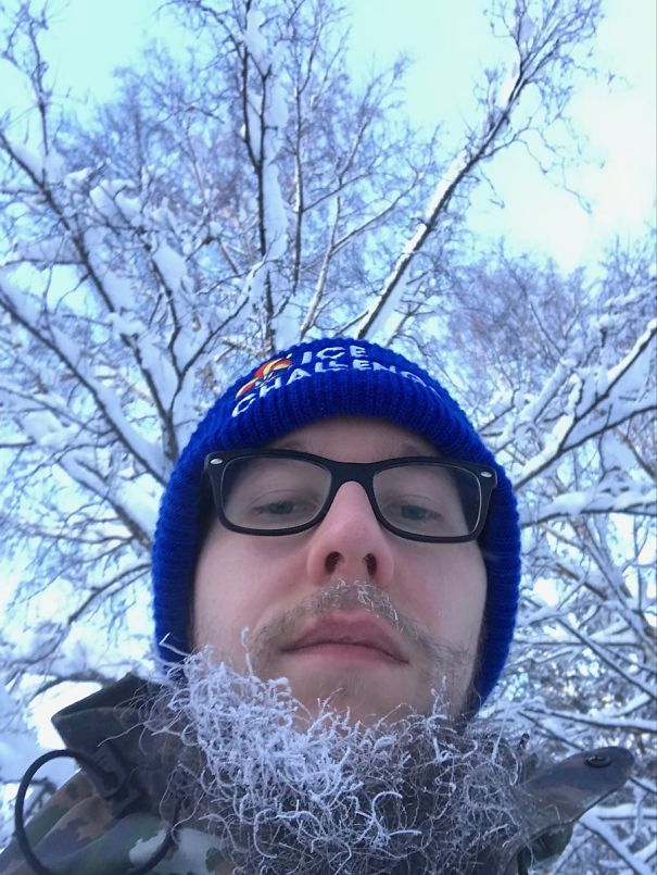 My Beard Froze While Waiting Bus. I Wish It Would Be Summer Already