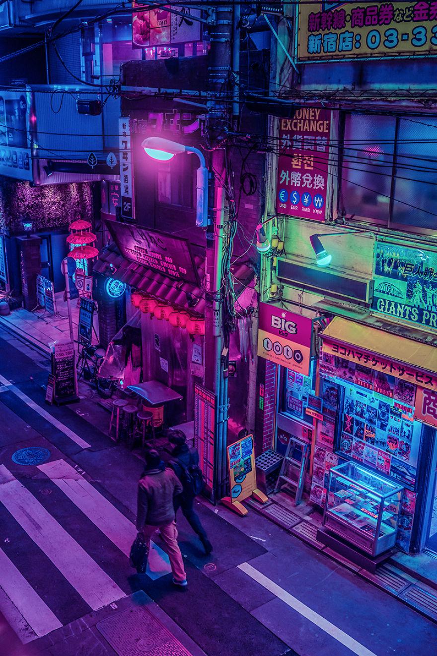 Ночной Токио география